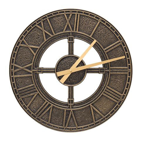 Hera Indoor Outdoor Wall Clock in Black / Gold