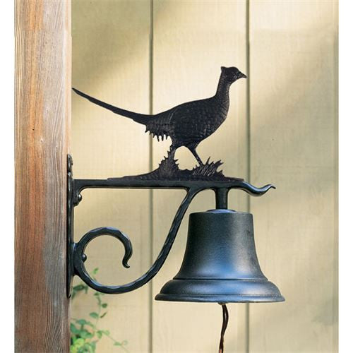 Whitehall Large Bell with Pheasant - Black Finish