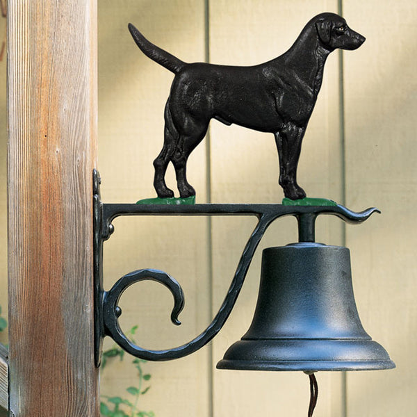 Whitehall Large Bell with Black Lab, Black Finish