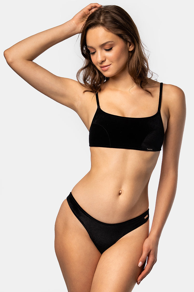 Kenzie Top / Black Velvet - Bikinis & Beachwear | Blackbough Swim