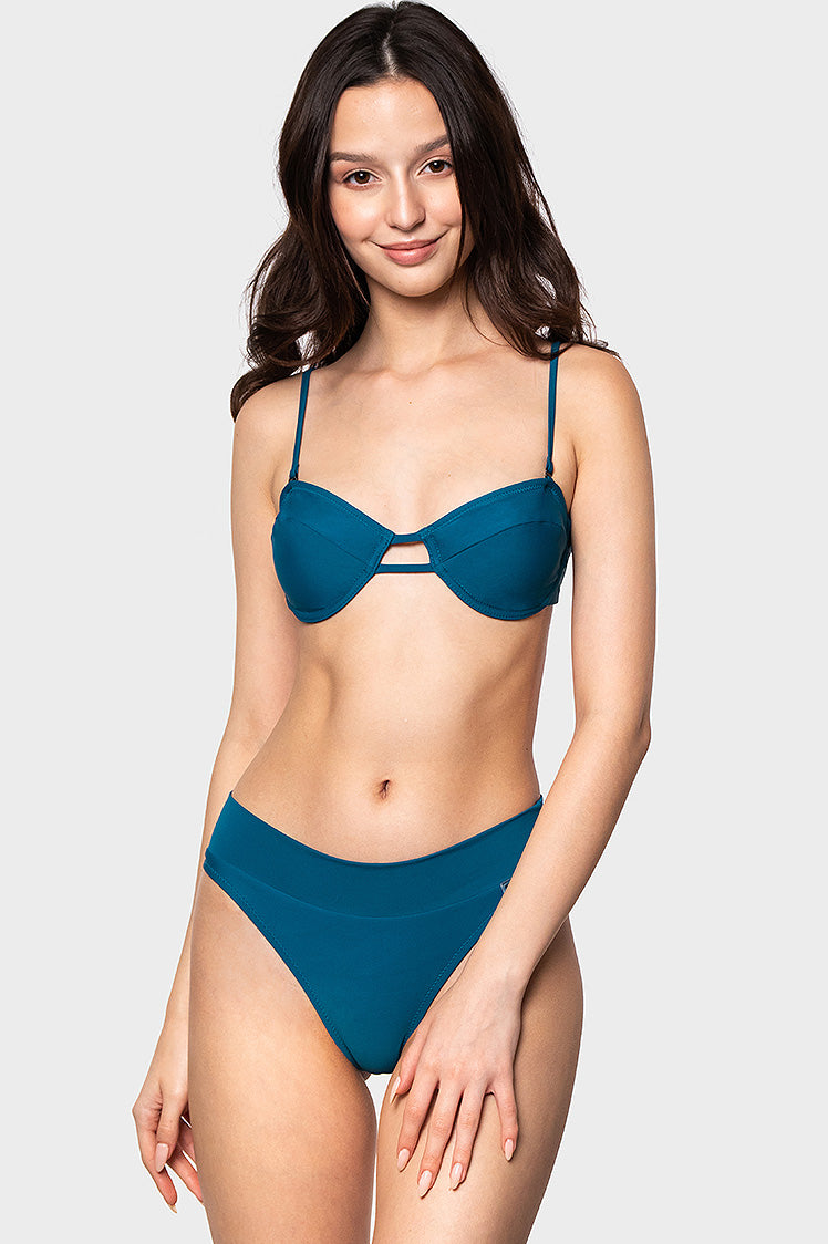 Juliet Top / Blue Soda - Bikinis & Beachwear | Blackbough Swim