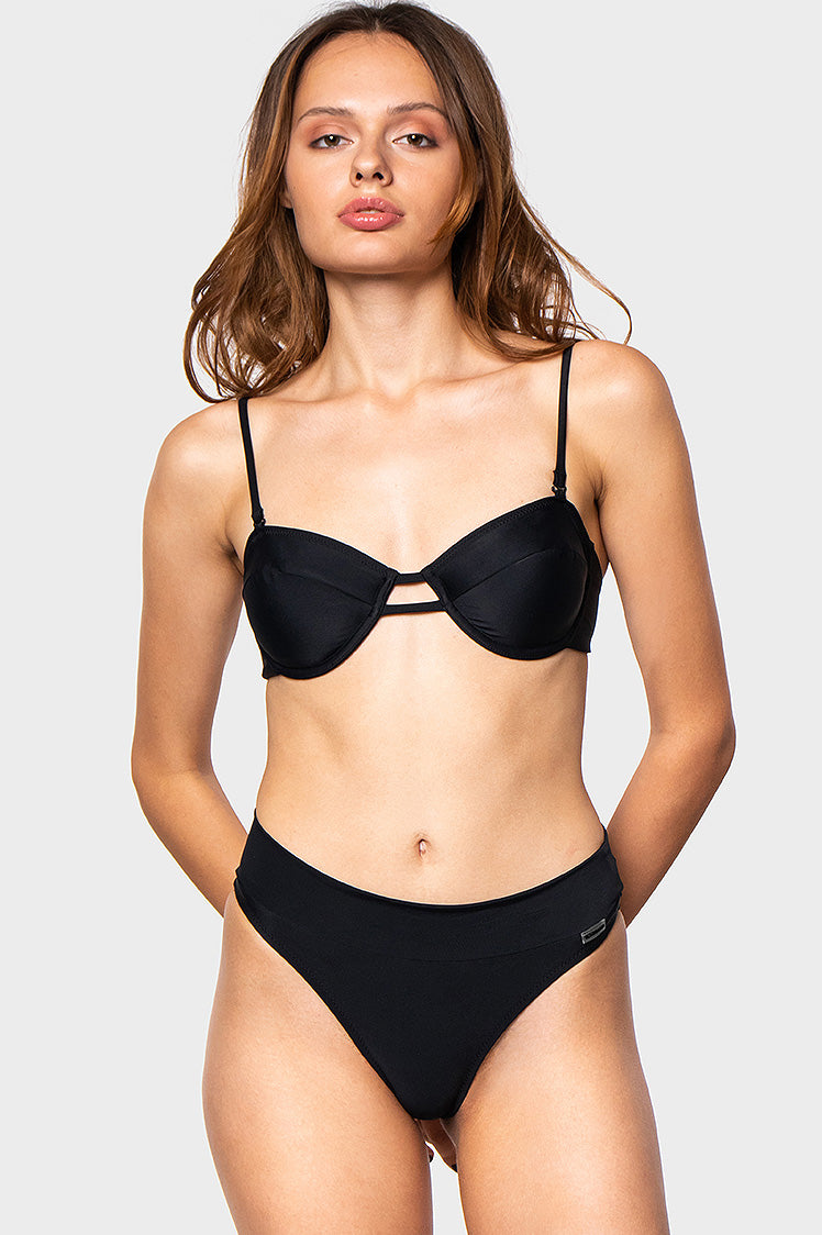 Juliet Top / NY Noir - Bikinis & Beachwear | Blackbough Swim