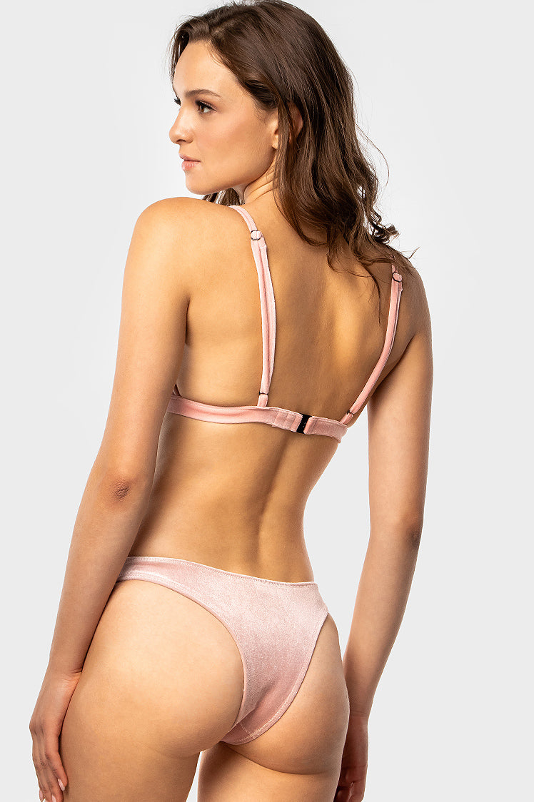 Classic High Bottoms / Rose Velvet - Bikinis & Beachwear | Blackbough Swim