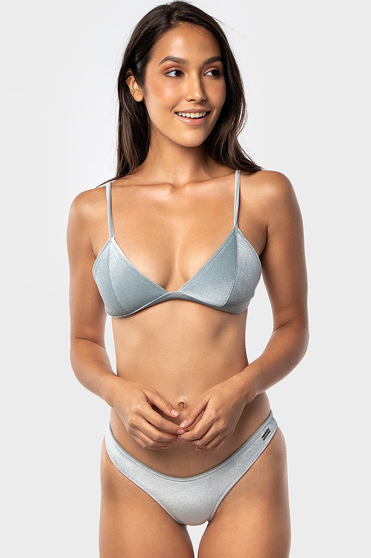 Cooper Top / Silver Velvet - Bikinis & Beachwear | Blackbough Swim