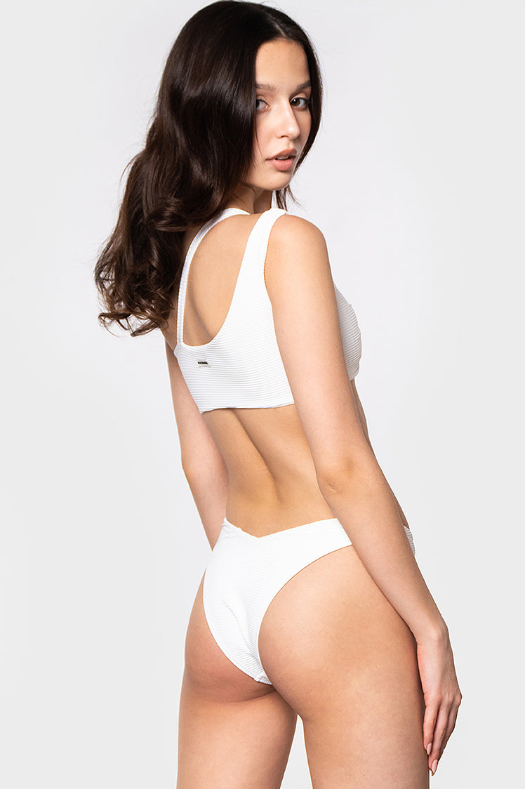 Rosie Bottoms / White Ribbed