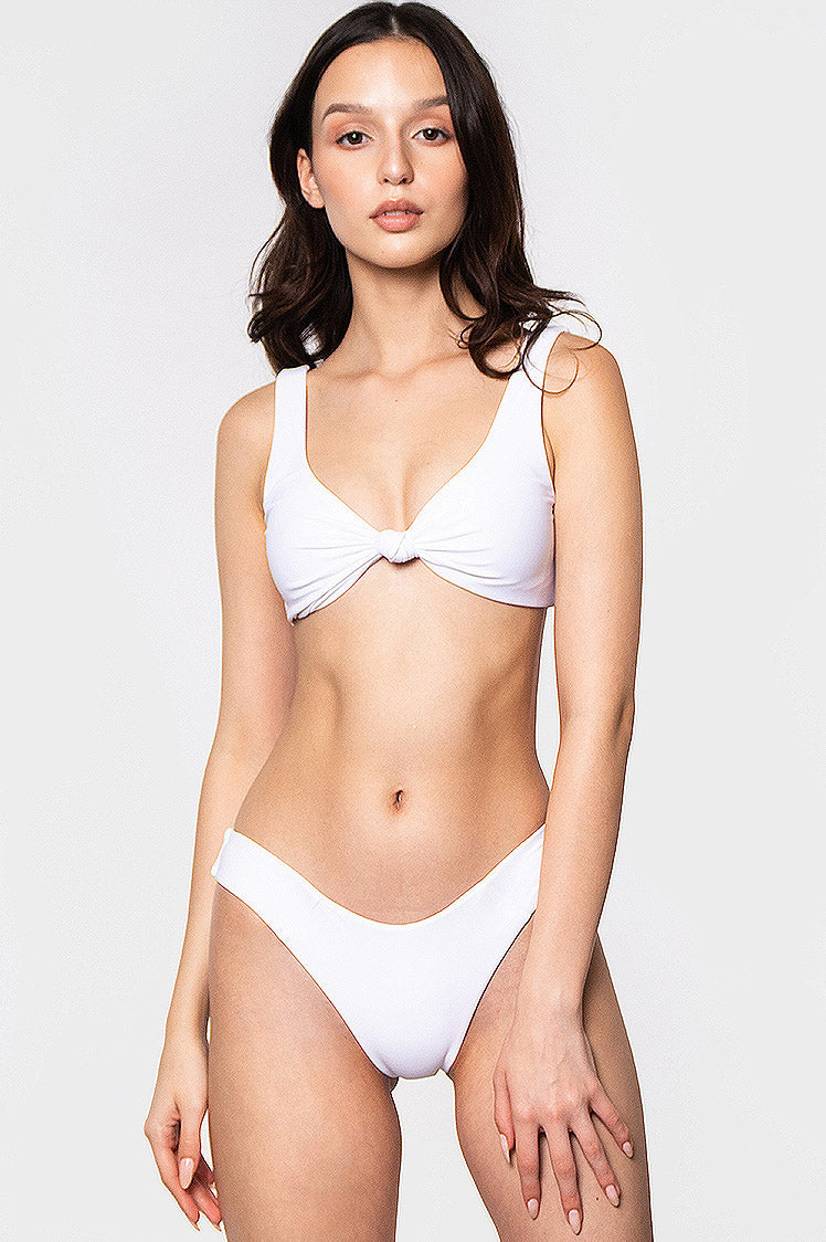 Cleo Top / WHITE - Bikinis & Beachwear | Blackbough Swim