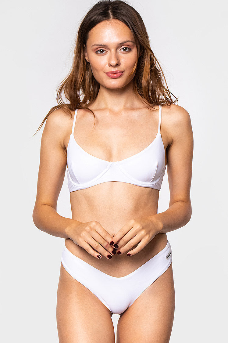 Willow Top / White - Bikinis & Beachwear | Blackbough Swim