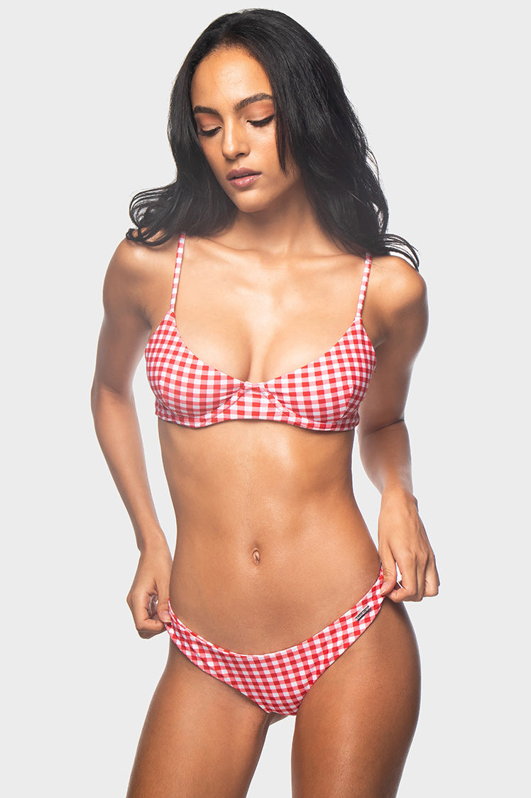 Willow Top / CHERRY GINGHAM - Bikinis | Blackbough Swim