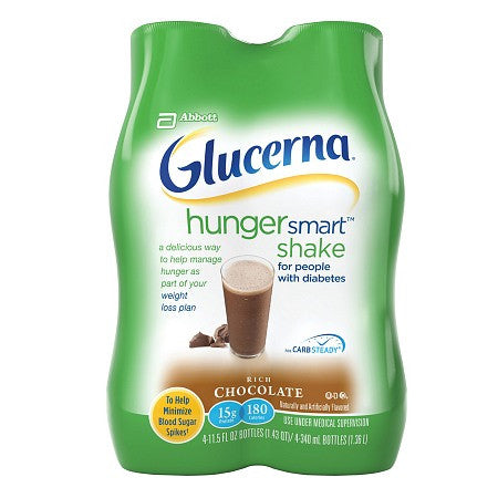 GLUCERNA HUNGER SMART SHAKE CHOCOLATE BOTTLE