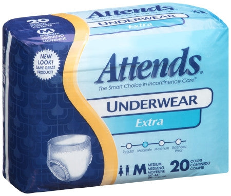 ATTENDS EXTRA ABSORBENCY UNDERWEAR