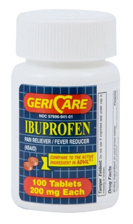 Ibuprofen Pain Relief 200 mg Strength Tablet (compare to Advil) Gericare McKesson