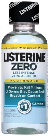 LISTERINE ZERO CLEAN MINT MOUTHWASH 3.2 oz. ALCOHOL FREE