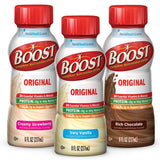 Boost Original in Rich Chocolate, Original Strawberry, and Original Very Vanilla Nutritional Drink, 8 fl oz Bottle