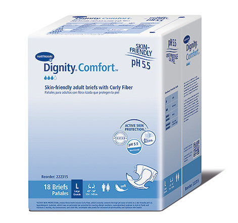 Dignity Comfort with Curly Fiber disposable incontinence briefs