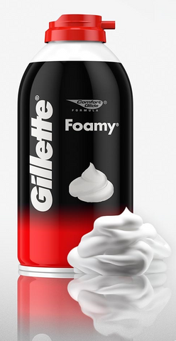 GILLETTE® SHAVING CREAM FOAMY - 2 oz. AEROSOL