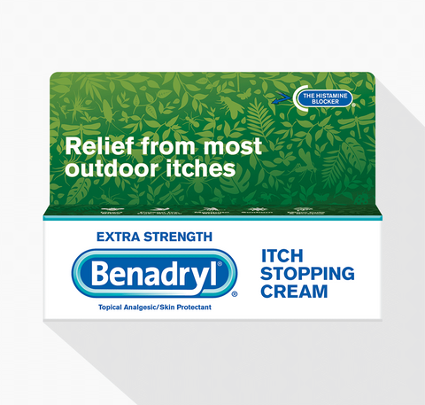 BENADRYL® EXTRA STRENGTH ITCH STOPPING CREAM 1 oz. Tube