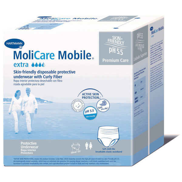 MoliCare Mobile Extra with Curly Fiber Disposable Underwear