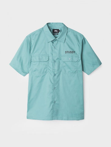 Camisa Stussy Work Shirt green
