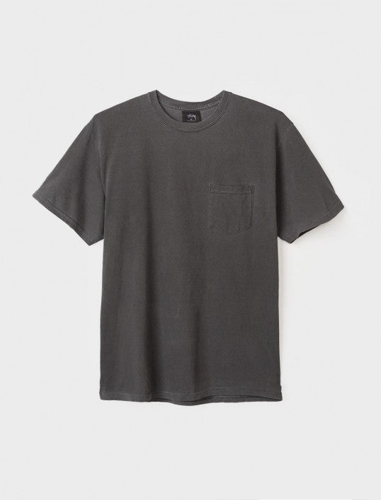 Camiseta Stussy Checker Stock Pigment Dye Tee black   SALES 50%
