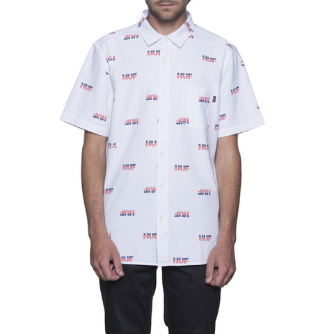 Camisa Huf 1984 Cambray SS Shirt white