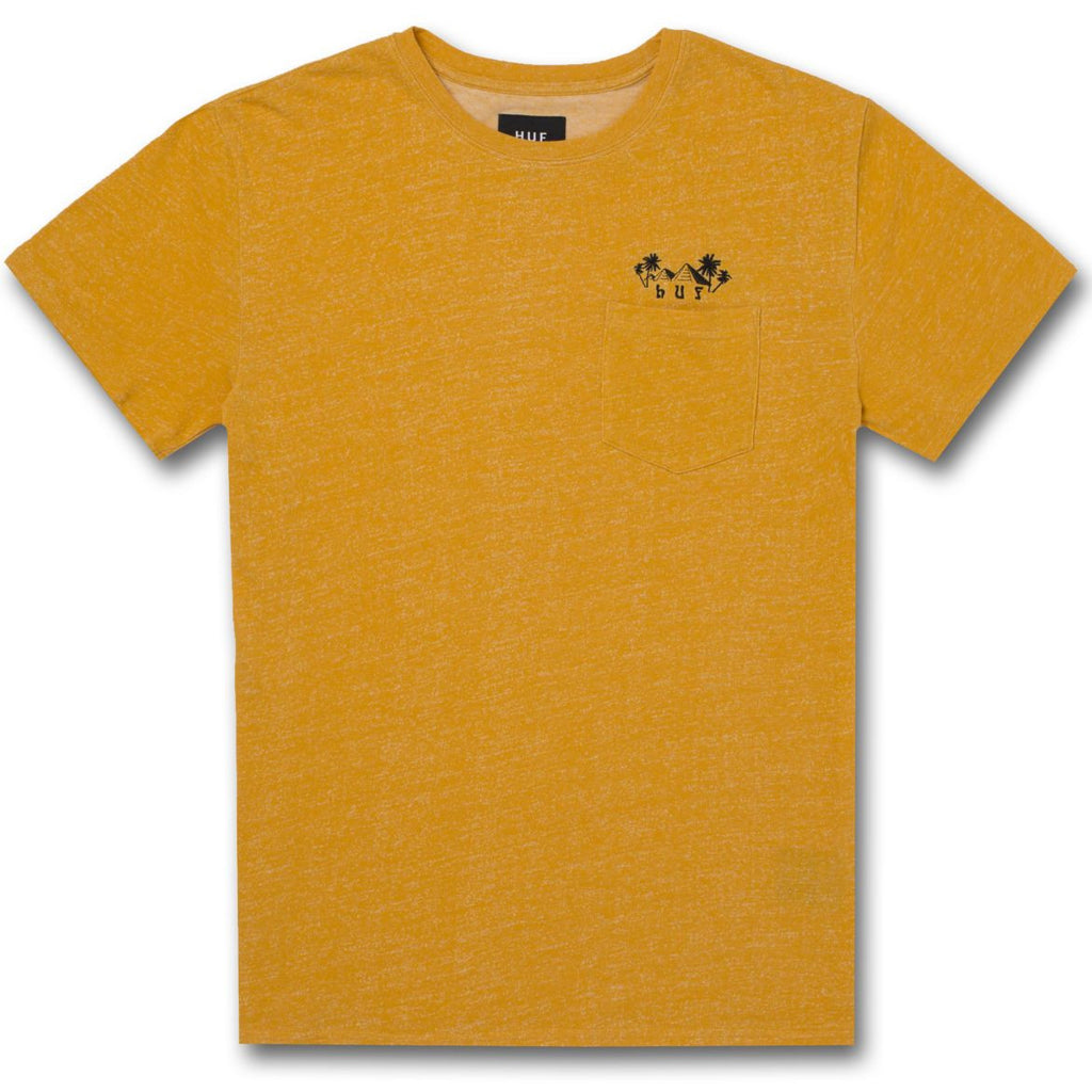 Camiseta Huf Heather Pyramid Pocket Tee mustard