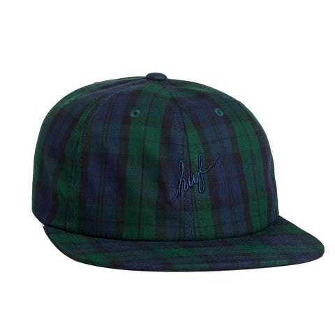 Gorra Huf Tartan Script 6 Panel Hat blackwatch