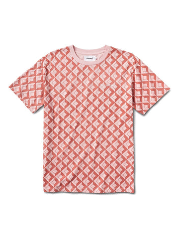 Camiseta Diamond Tiles Short Sleeve Tee rose