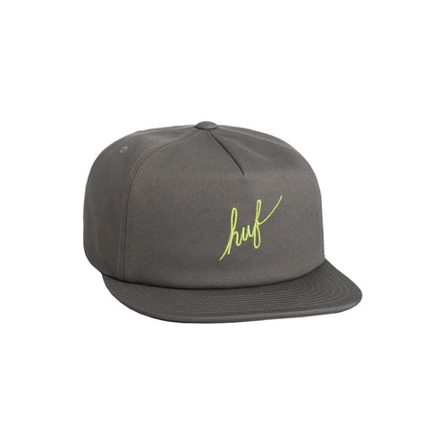 Gorra Huf Script Snapback Hat natural grey