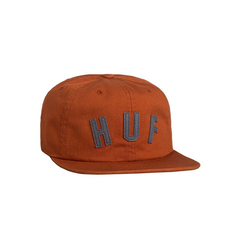 Gorra Huf Shortstop 6 Panel Hat Bombay brown