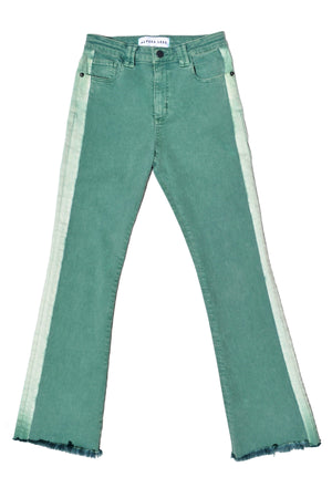 OMBRE STRIPE HARDY FLARE - WASHED KELLY