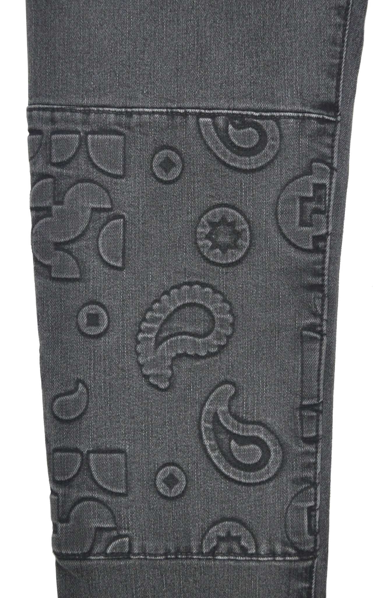 PATTI SLIM STRAIGHT LEG - EMBOSSED MODERNIST PAISLEY