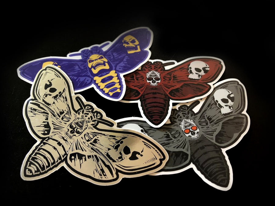 Death's Head Moth Sticker Pack