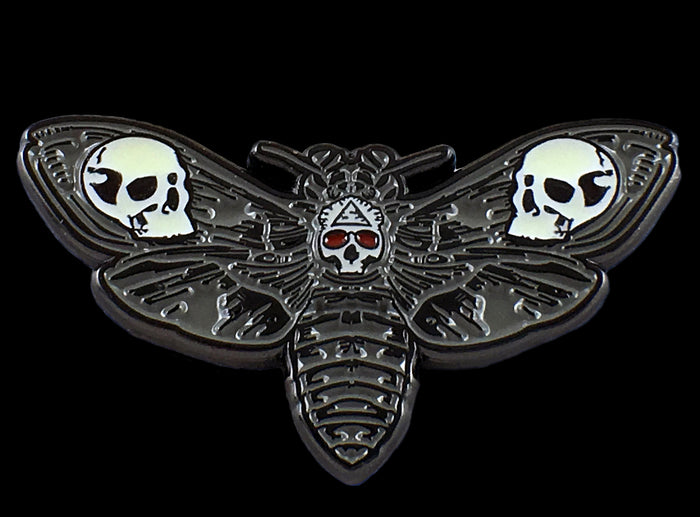 The Death's Head Moth Glowie Pin