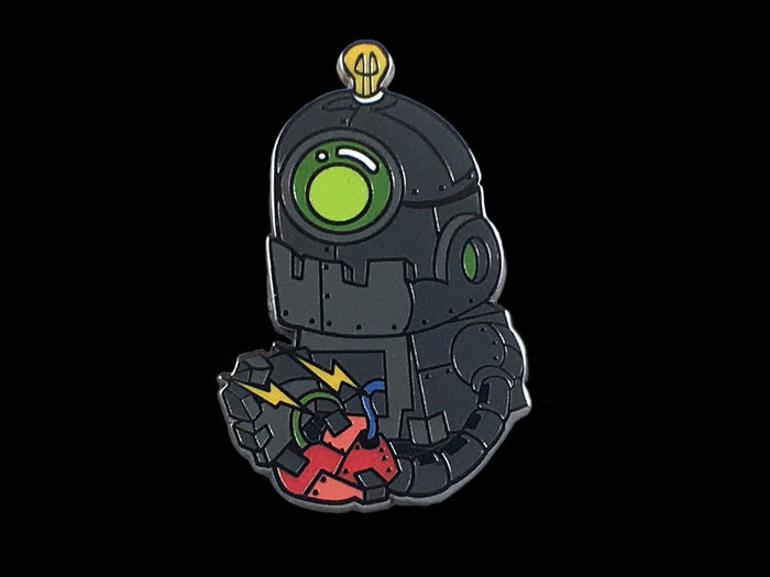 Heart Ripping Robot Pin