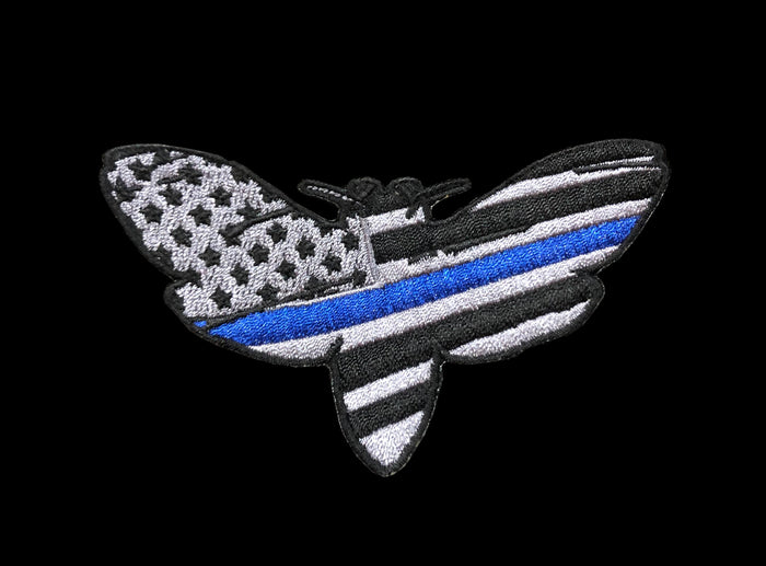 The Deaths Head Moth - Thin Blue Line Merica
