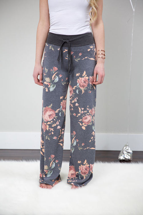 Sunday funday pants - charcoal - Red Gate Boutique