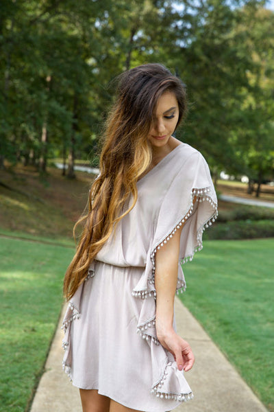 TOFFEE NUT DRESS - LIGHT MOCHA - Red Gate Boutique