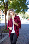 Home for christmas cardigan - wine - Red Gate Boutique