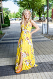 Bright and Sunny Maxi Dress - Yellow - Red Gate Boutique