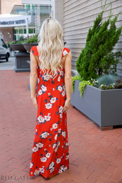 I'll be there Maxi dress - Red - Red Gate Boutique