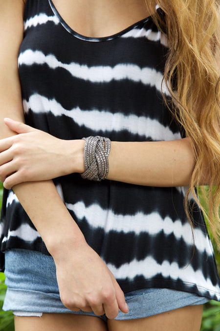 Feathers in the wind bracelet - grey