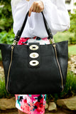 Hello gorgeous handbag - black - Red Gate Boutique