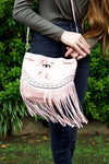 Cotton & candy handbag - dusty rose - Red Gate Boutique