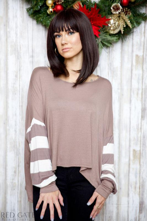 ALL I WANT FOR CHRISTMAS TOP - MAUVE - Red Gate Boutique