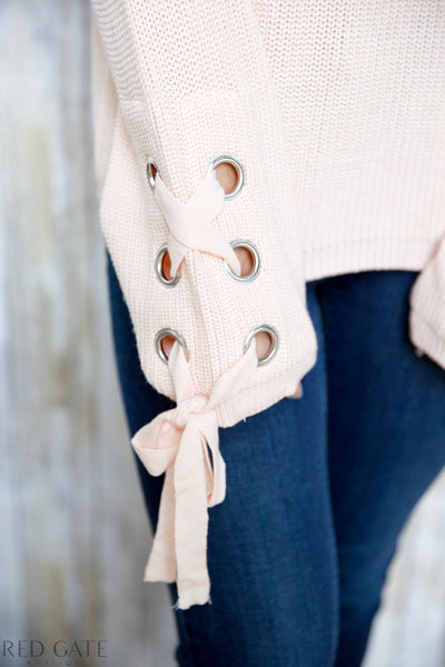STAY & CUDDLE SWEATER - PEACH/ PINK