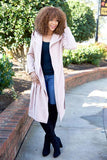 Baby it's cold outside trench coat - blush - Red Gate Boutique