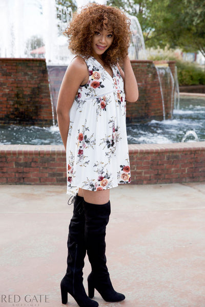 Walking with me dress - white - Red Gate Boutique