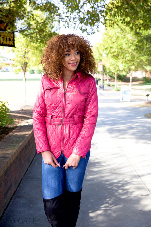 FOREVER YOUNG COAT - FUCHSIA - Red Gate Boutique
