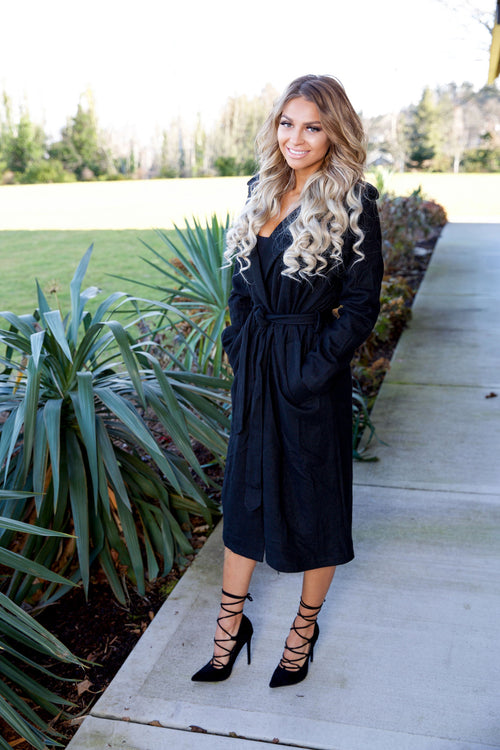Go - getter trench coat - black - Red Gate Boutique