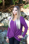 Lavender love top - purple - Red Gate Boutique